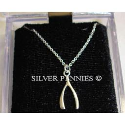 925 Sterling Silver Wishbone Necklace