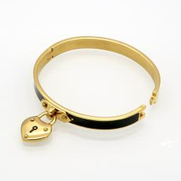 Heart Lock Bracelet.* Engravable *