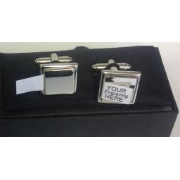 Silver Plated Engravable Cufflinks