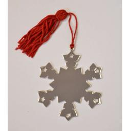 Silver Plated Snowflake Christmas Decoration