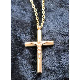 Memorial Cross Pendant Necklace