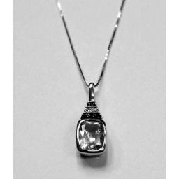 White Gold Topaz, Black And White Diamonds