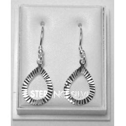 925 Sterling Silver Open Teardop Drop Earings
