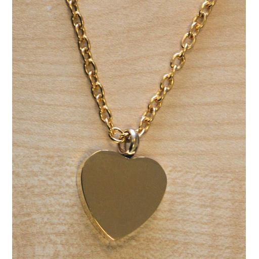 Cremation Jewellery Heart Pendant Necklace