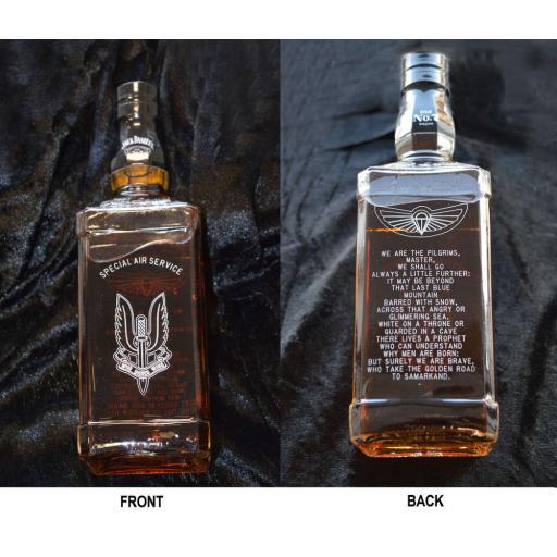 Personalised Engraved Bottle Of Jack Daniels.
