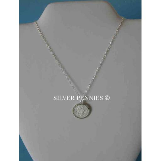 Sterling St Christopher Necklace 16 Inch