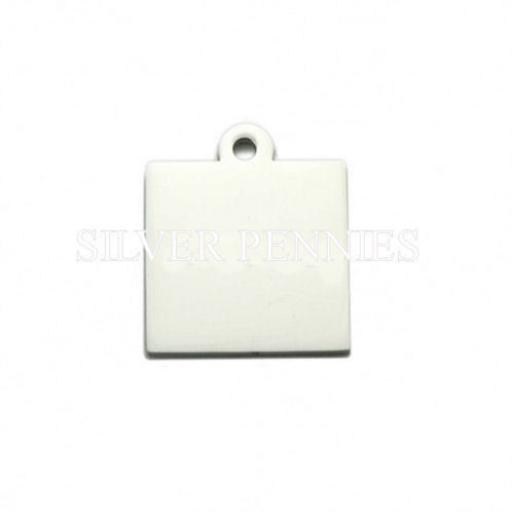 Engraved Pendant Necklace Square
