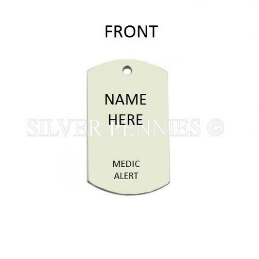 Medical Alert Id Necklace Large