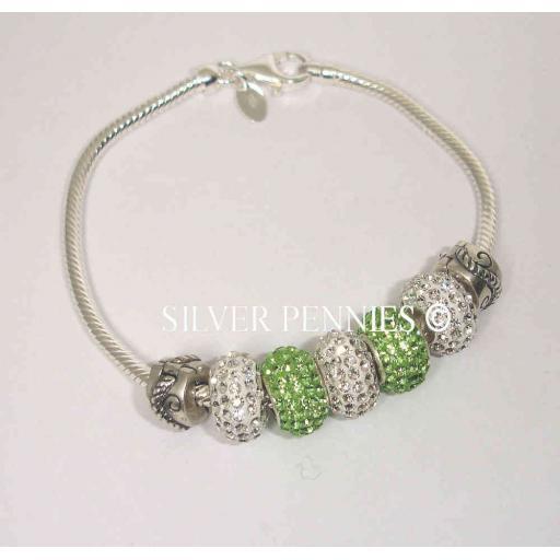 925 Sterling Silver Snake Bracelet.