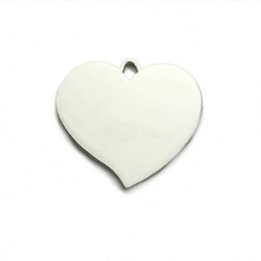 Photo Engraved Pendant Necklace Flared Heart