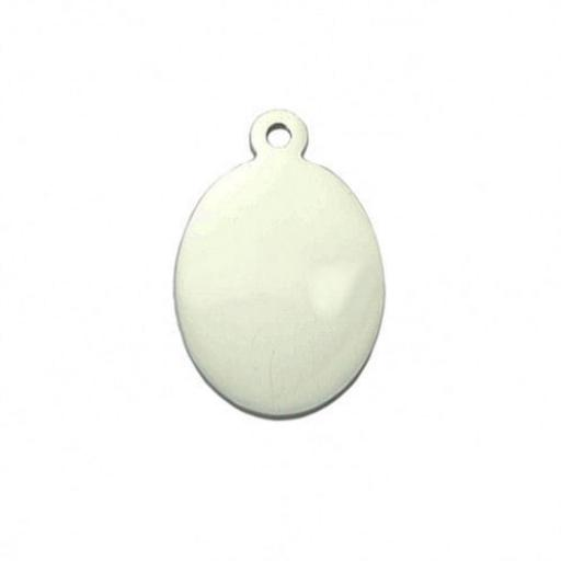 PHOTO Engraved Pendant Necklace Oval