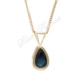 9ct Gold Sapphire Necklace.