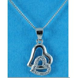 Cubic Zirconia Double Heart Necklace.jpg