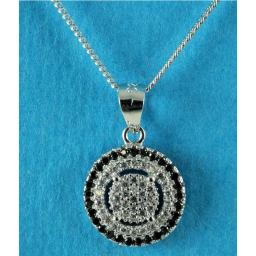Clear and Black Cubic Zirconia Pendant Necklace.jpg