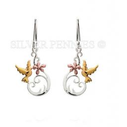"""Flower Kiss"" drop earrings"