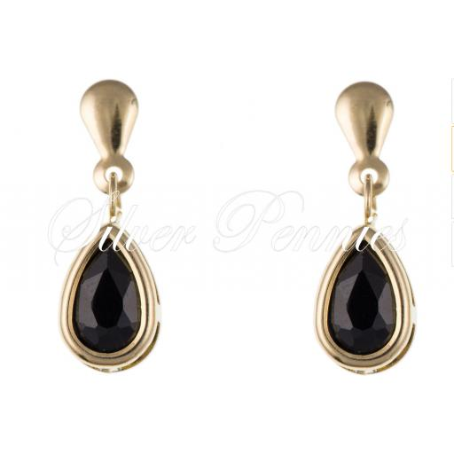 9ct Gold Sapphire Stud Earings