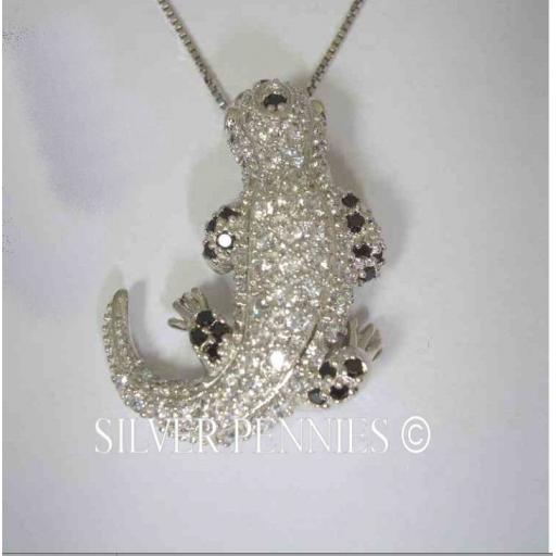 Riana Sterling Silver Lizard Pendant Necklace.jpg