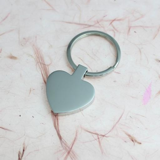 PHOTO Engraved HEART Keyring