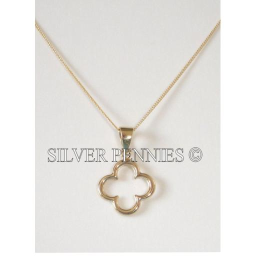 Gold Cut out Flower design necklace.png