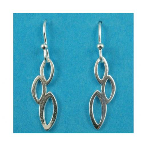 Silver Triple Oval Pendant earrings.jpg