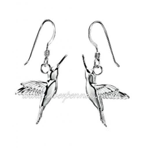 Humming Bird Drop Earrings