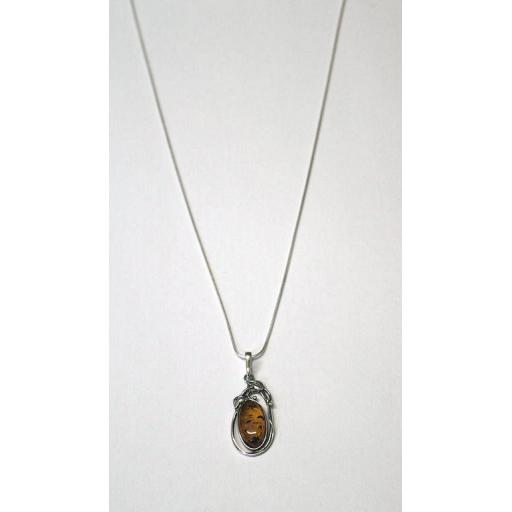 Amber Fancy Wrap Necklace