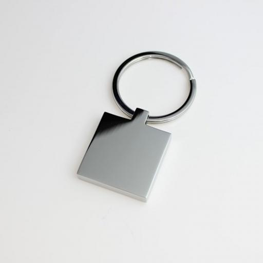 PHOTO Engraved SQUARE Keyring