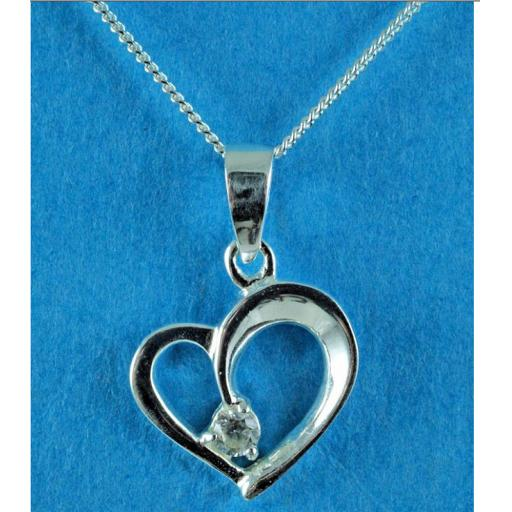 Clear Silver and CZ Heart Necklace.jpg
