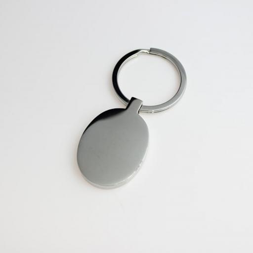 PHOTO Engraved OVAL Keyring
