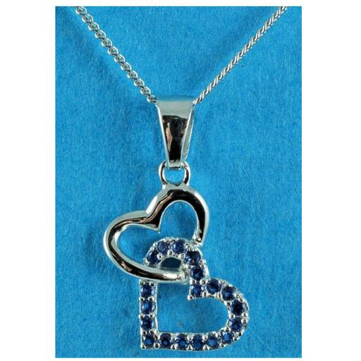 Blue Crystal Double Heart Pendant Necklace.jpg
