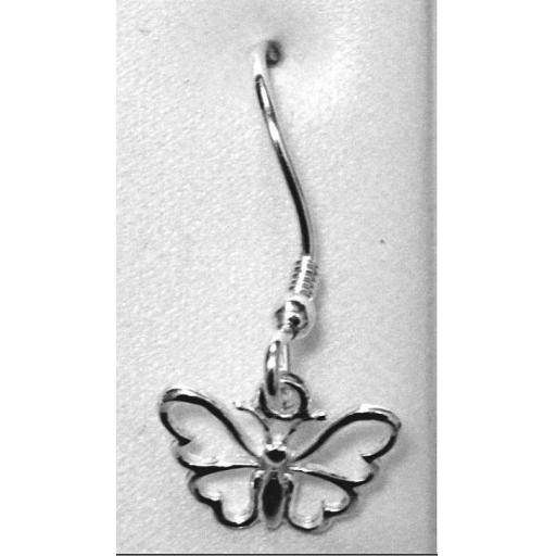 BUTTERFLY hook style dangly earrings approximately 2cm.jpg