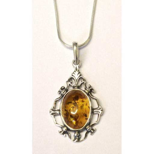 """Timeless Classic"" Amber Necklace"