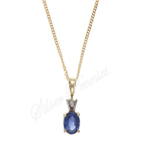 9ct Gold Kanchan Sapphire and Diamond Necklace
