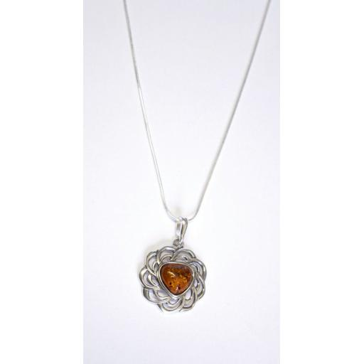 Reuleaux Triangle Amber Necklace