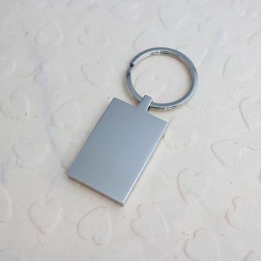 PHOTO Engraved RECTANGLE Keyring
